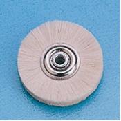 Spazzole centro metallo diam. 50 mm. pelo capra bianco