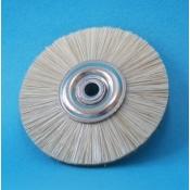 Spazzole centro metallo diam. 50 mm. setola bianca