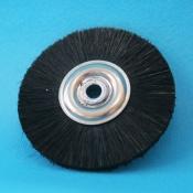 Spazzole centro metallo diam. 50 mm. setola nera