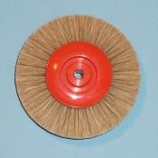 Spazzole centro plastica diam. 80 mm. setola c.k. bianca 4 ranghi