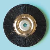 Spazzole centro metallo diam. 47 mm. setola nera speciale